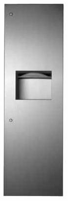 Recessed Paper Towel Dispenser And Waste Receptacle - B-39003
