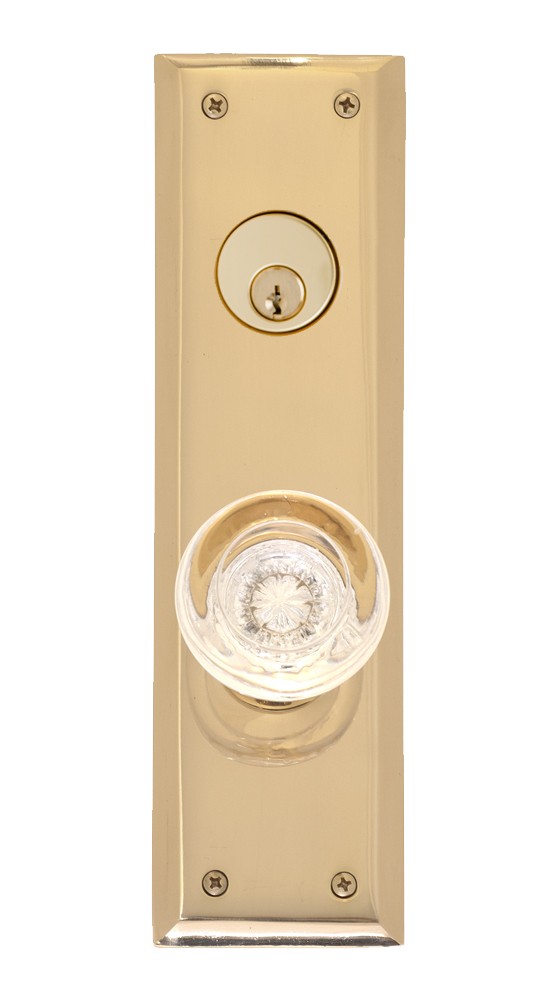 """Brass Accents Quaker Collection Knob / Lever Entry Set - 2-3/4"""" X 10"""" Plates"""
