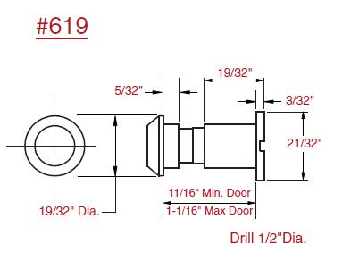 Hard to find templates and manuals from lock and hinge 619 door viewer 619 pronofoot35fo Gallery