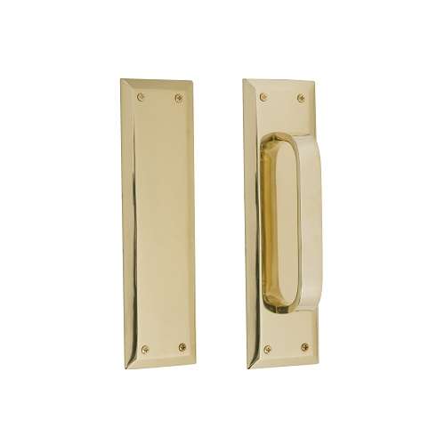 """Brass Accents Quaker Push & Pull Plate Collection 2-3/4"""" X 10"""""""