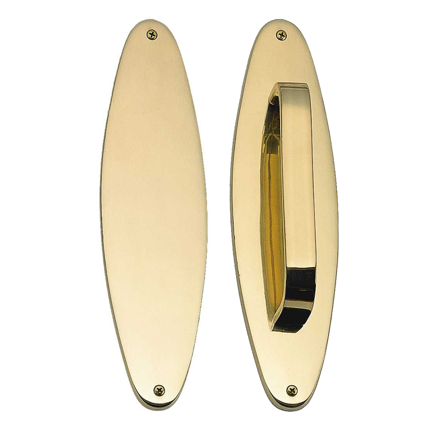 """Brass Accents Oval Traditional Push & Pull Plate Collection 3"""" X 11"""""""