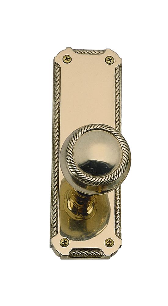 "Brass Accents Quartermain Collection Knob / Lever Set - 2-1/4"" X 7"" Plates - 2-1/8"" Bore - Surface Mount"