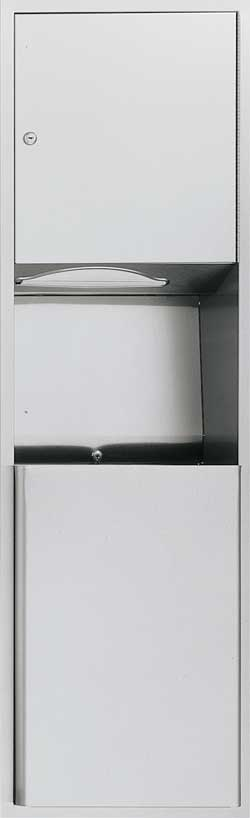 Recessed Paper Towel Dispenser And Waste Receptacle - 04697